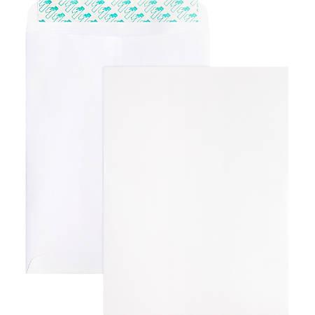 "Business Source Self Sealing Catalog Envelope - Catalog - #10 - 9"" Width x 12"" Length - 28 lb - Peel & Seal - Wove - 100 / Box - White"