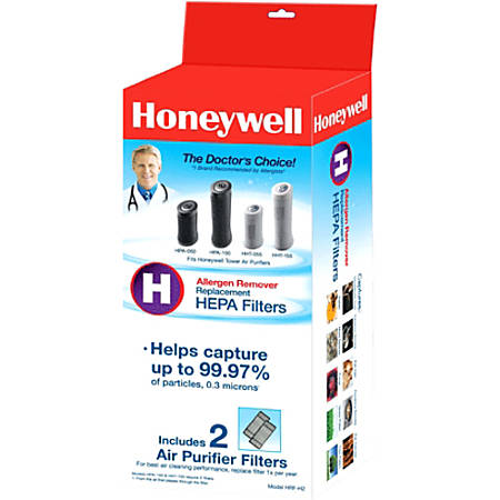 Honeywell HRF-H2 True HEPA Replacement Filter - 2 Pack - For Air Purifier