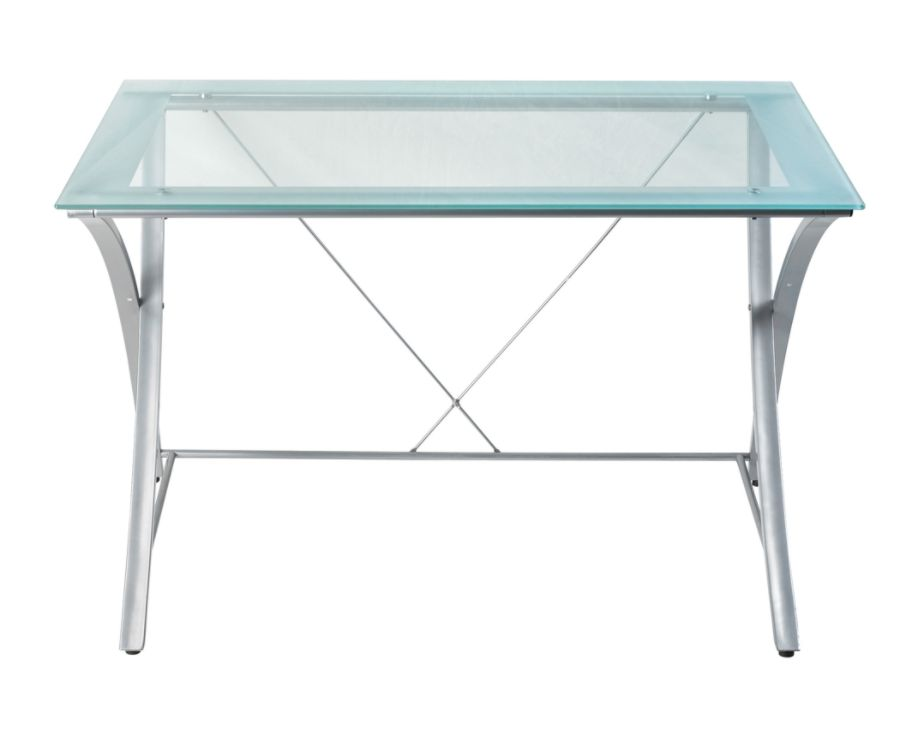 Realspace Zentra Main Desk SilverClear by Office Depot OfficeMax