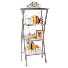 Realspace Zentra Bookcase SilverClear