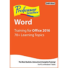 Professor Teaches Word 2016