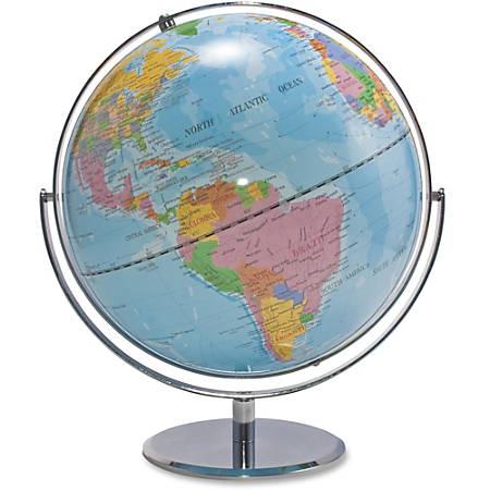 "Advantus 12"" Political World Globe - 13"" Width x 16"" Height - 12"" Diameter - Multi"