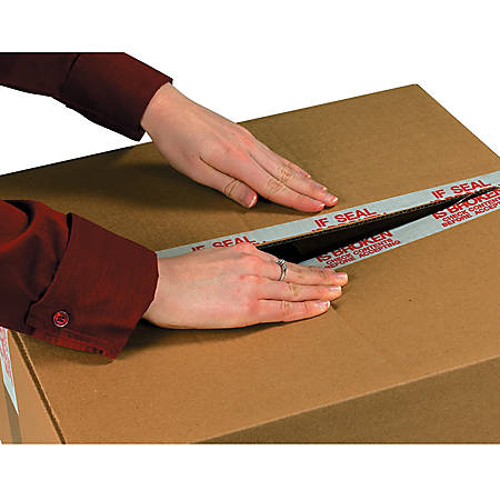 """3M® 3779 Pre-Printed Carton Sealing Tape, 3"""" x 110 Yd., Clear, Case Of 24"""