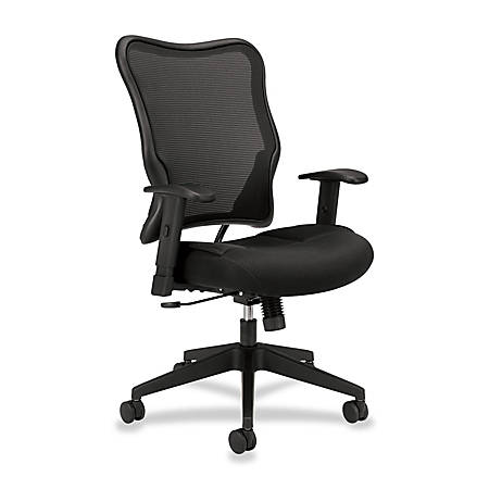 HON Wave Mesh High-Back Task Chair, Black