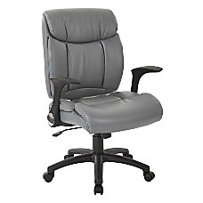 Office Star Work Smart Faux Leather