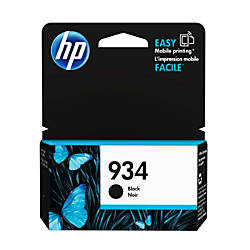 HP 934 Black Ink Cartridge C2P19AN140
