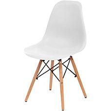 Iris Armless Classic Shell Chair White