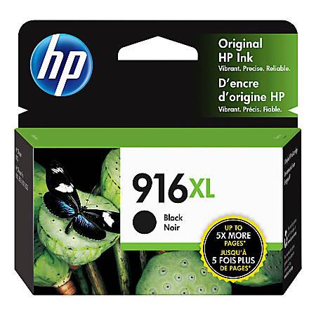 HP 916XL Extra High Yield Original Ink Cartridge, Black (3YL66AN)