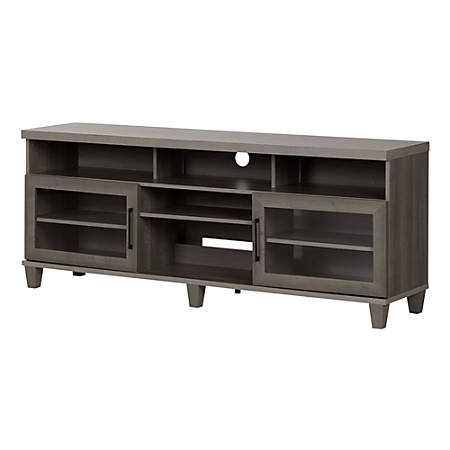 South Shore Adrian TV Stand For TVs Up To 75'', Gray Maple