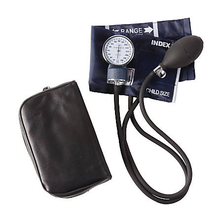 MABIS Economy Aneroid Sphygmomanometer, With Thigh Cuff, Navy