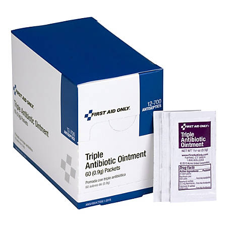 Acme United Triple Antibiotic Ointment, 2.4 Oz, Box Of 60 Packets