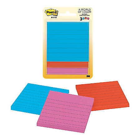 "Post-it® Notes, 3"" x 3"", Cape Town, Pack Of 3 Pads"