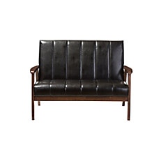 Baxton Studio Luisa Faux Leather Loveseat