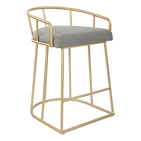 "Ave Six Luna 31 1/2""H Counter Stool, Ash/Gold"