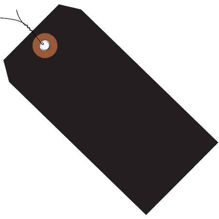 """Office Depot® Brand Prewired Plastic Shipping Tags, 6 1/4"""" x 3 1/8"""", Black, Case Of 100"""