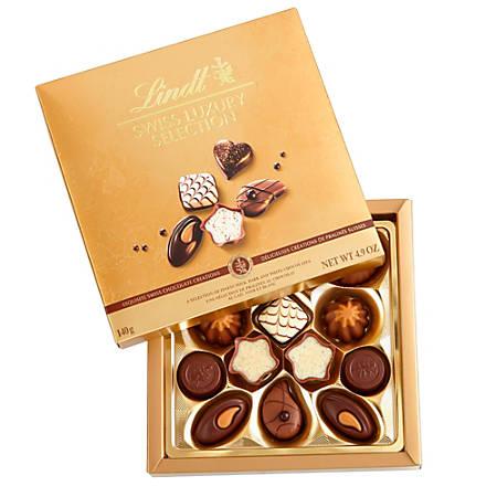 Lindt Chocolate, Swiss Luxury Selection Assortment, 145g Box