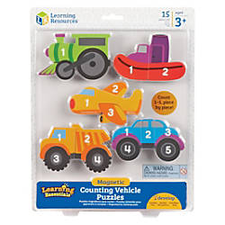 Learning Resources Vehicle Count Magnetic Puzzle