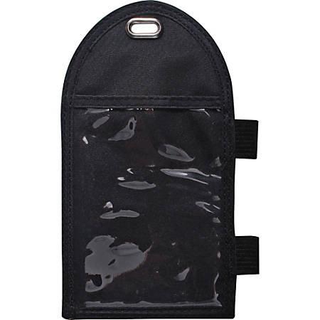 Advantus Vertical Badge Holder - Vertical - Metal - 12 / Box - Black