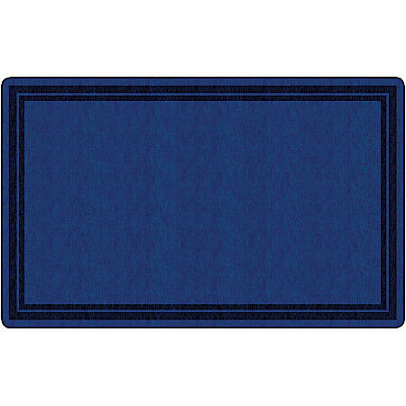 "Flagship Carpets Double-Border Rectangular Rug, 90"" x 144"", Dark Blue"