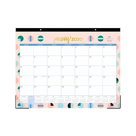 """Dabney Lee for Blue Sky™ Pinball Wizard Monthly Desk Pad, 22"""" x 17"""", January To December 2020, 115416"""