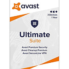Avast Ultimate Security 2020 3 Devices