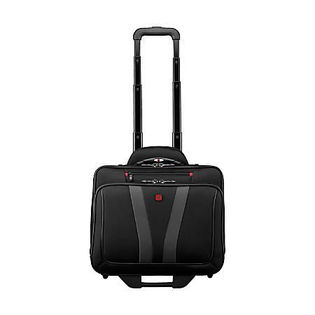 Wenger Granada Pro Wheeled Laptop Case With 15 6 Pocket Black Item 573329