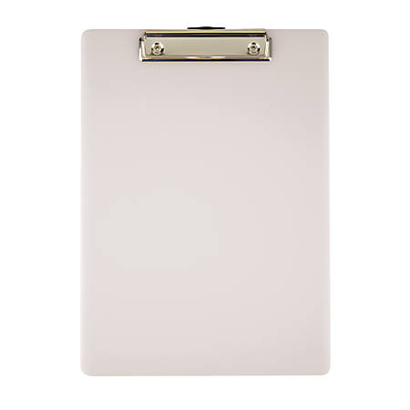 "Office Depot® Brand Acrylic Clipboard, 9"" x 12"", Gray"