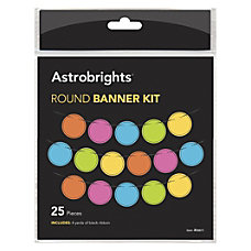Astrobrights Round Banner Kit DecorationActivity 25