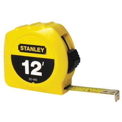 Stanley® Bostitch Thumb Latch Lock Measuring Tape, 12' Item # 573541