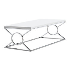 Monarch Specialties Coffee Table Rectangular Glossy