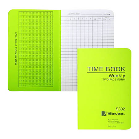 "ACCO® / Wilson Jones® Foreman's Pocket-Size Time Book, 2 Pages Per Week, 6.75"" x 4.12"""