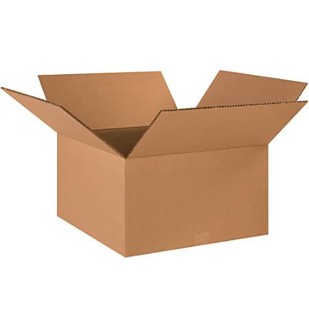 "Office Depot® Brand Double-Wall Heavy-Duty Corrugated Cartons, 18"" x 18"" x 10"", Kraft, Box Of 15"