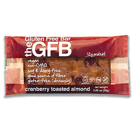 The Gluten-Free Bar, Cranberry Toasted Almond, 2.05 Oz, Pack Of 12