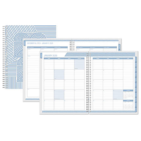 """Office Depot® Brand Weekly/Monthly Planner, 5-1/2"""" x 8"""", Lines, January to December 2020"""