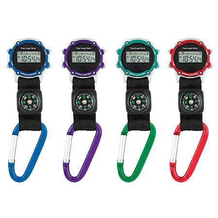 Clip-On Stopwatch With Compass
