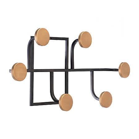 Zuo Modern Sixto 6-Hook Wall Rack, Antique