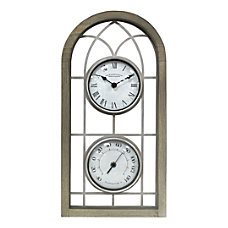FirsTime Co Farmhouse Arch Outdoor Clock