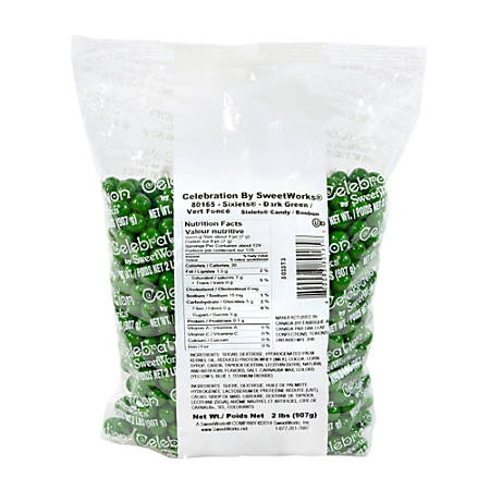 Sweetworks Sixlets Balls, Green, 2-Lb Bag
