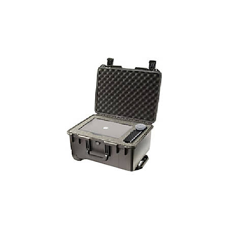 """Pelican Storm Case IM2620 with Foam - Internal Dimensions: 20"""" Length x 14"""" Width x 10"""" Depth - External Dimensions: 21.2"""" Length x 16"""" Width x 10.6"""" Depth - Press & Pull Latch, Hinged Closure - HPX Resin - Black - For Military"""