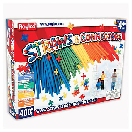 "Roylco Straws And Connectors™, 8"" x 25"", Pre-K - Grade 3, Pack Of 400"