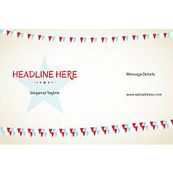 Customizable Window Decal Horizontal Bunting Star