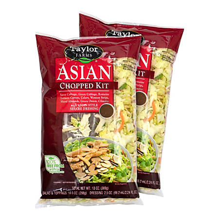 Taylor Farms Asian Chopped Salad Mix, 13-Oz Bag, Pack Of 2 Bags