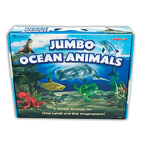 Learning Resources Jumbo Figures, Ocean Animals, Pack Of 6