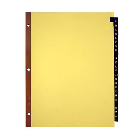 Office Depot® Brand Preprinted Tab Dividers, Alphabetical