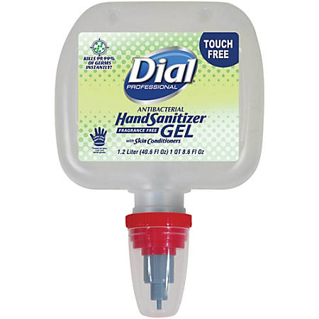 Dial® Professional Foaming Hand Sanitizer Refill For Duo Dispensers, 40.6 Oz, Fragrance-Free, Pack Of 3