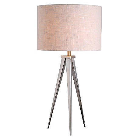 Kenroy Home Table/Floor Lamp, Foster 1-Light Table Lamp, Brushed Steel