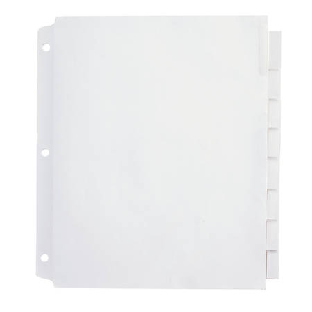 Office Depot® Brand Insertable Extra-Wide Dividers With Big Tabs, Clear, 8-Tab