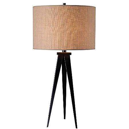 Kenroy Home Table/Floor Lamp, Foster 1-Light Table Lamp, Brushed Steel