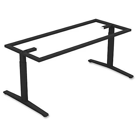 Lorell Rectangular Conference T Leg Table Base For W Top Black By - T base table legs