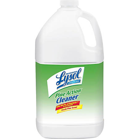 Lysol Disinfectant Pine Action Cleaner - Concentrate Liquid - 1 gal (128 fl oz) - Pine Scent - 4 / Carton